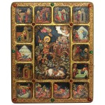Чудо великомученика Димитрия Солунского о царе Калояне с житийными сценами