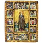 Преподобный Сергий Радонежский, чудотворец, с житийными сценами