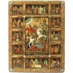 Чудо Святого Георгия о змие с житийными сценами